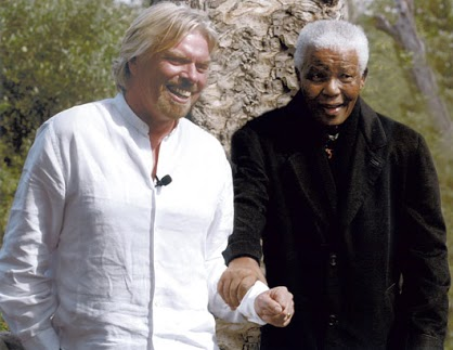 Virgin Airlines, Richard Branson and Nelson Mandela