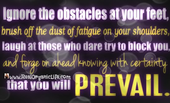 Ignore the obstacles at your feet
