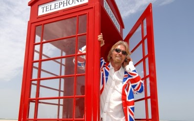 Branson in British Telephone booth