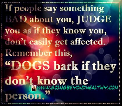 If people say something bad about you . . .