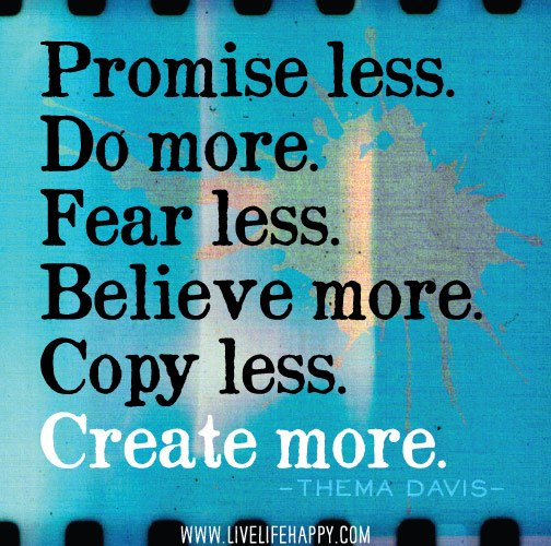 Promise less, do more