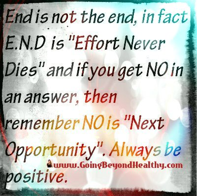 END is not the end