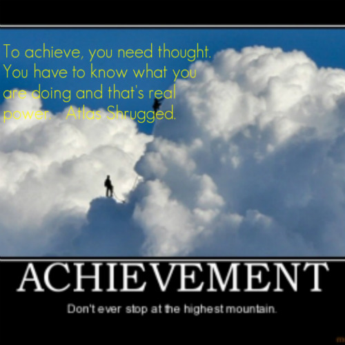 Mountain and Clouds-To Achieve You Need...