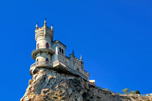 Castle on top a cliff