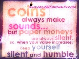 Coins always make sound