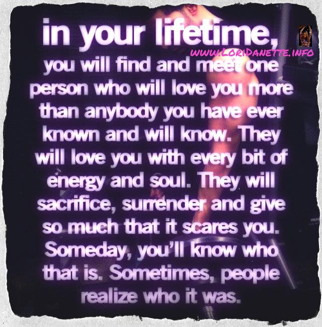 In your lifetime . . .