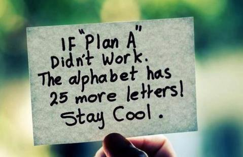 If Plan A didn't work, 25 more alphabets