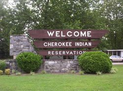 WELCOME TO CHEROKEE INDIAN RESERVATION