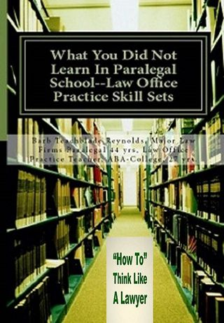 BOOK AND HOW TO THINK LIKE A LAWYER INSERT 450H X 650V