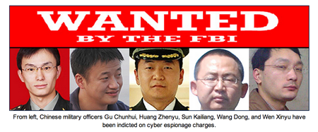 CHINESE HACKERS WANTED BY THE FBI