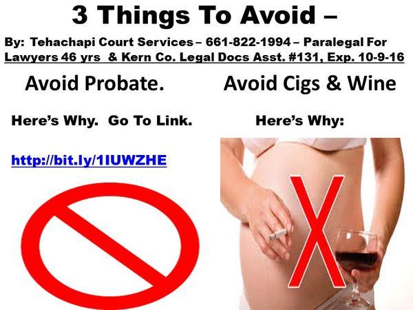 3 Things To Avoid