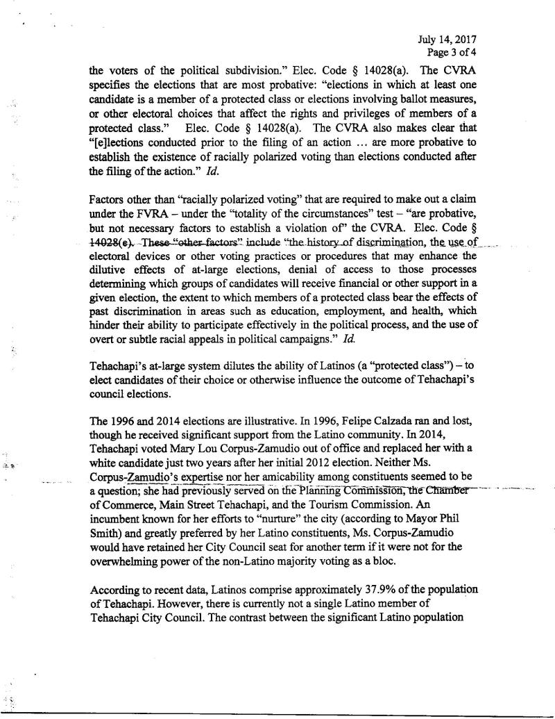 Pg 3  Tehachapi  Shenkman Threat To Sue Letter